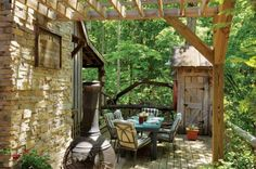 The Baker family designed their handmade home with plenty of outdoor space for year-round living. From MOTHER EARTH NEWS magazine.