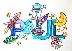 PAUL - Namen - Namensbild - Poster A4 von Maren Schmidt auf DaWanda.com Schmidt, Disney Characters, Fictional Characters, Etsy, Poster, Art, Birth Pictures, Personalized Gifts, Watercolor Painting