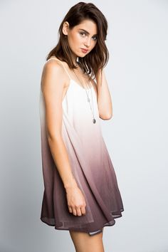 Super cute, comfortable, and loose fit knit ombre knit dress. 100% POLYESTER