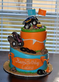 Monster Truck Cake...need this for my sons birthday :)