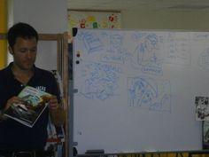 J.Louis Thouard nous montre ses livres, maquettes, story-boards.
