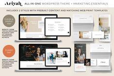 ARIYAH WordPress Website and Marketing Complete Bundle#marketing #bundle #clean