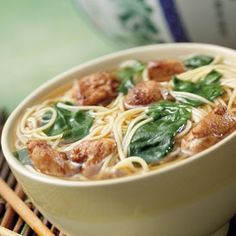 Totally making this tonight (for lunch tomorrow!) Asian Chicken Noodle Bowl Muscle and Fitness Hers