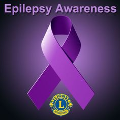 Epilepsy Awareness - Lions members can download this image and use it for Lions promotional and marketing materials.