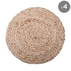 Set of 4 Natural Absolon Jute Placemats