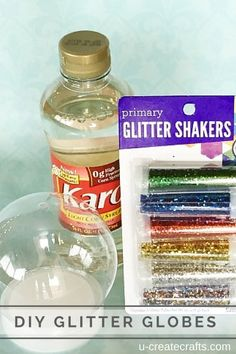 DIY glitter globes - such a fun & easy idea!