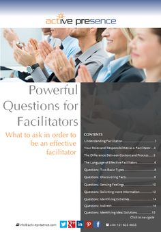 INFOGRAPHIC: Process Tools for Effective Meeting Facilitation — Active Presence