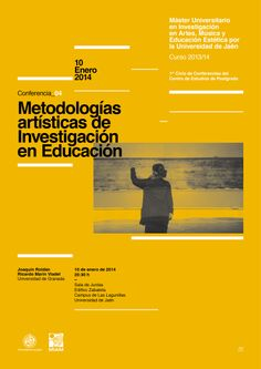 04 / Cartel Ciclo de Conferencias del Máster Oficial de la Universidad de Jaén en Investigación en Artes, Música y Educación Estética – designed by Javi Montoya