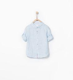 Striped fabric shirt-Shirts-Baby boy (3 months - 3 years)-KIDS | ZARA United States