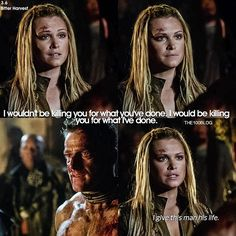 """#The100 3x06 """"Bitter Harvest"""" - Clarke and Emerson"""