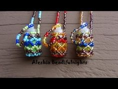 Beaded Bottle Necklace Tutorial - YouTube