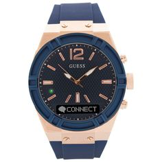 Enjoy the good looks of a classic watch and advanced functionality of a smartwatch in the Guess Connect watch. Powered by Martian, this smartwatch connects to your smartphone via Bluetooth so you can receive text-based notificatio... Free shipping on orders over $20. Red Chief, Latest Camera, Bank Card, Mobile Accessories, Watch Brands, Gold Watch, Smart Watch, Watches For Men, Cool Things To Buy