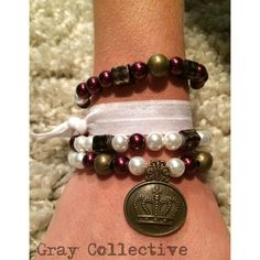 Maroon & Bronze Copper Set by GrayCollective on Etsy, $26.00