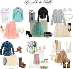 For a fun, feminine and classy look!  Many combo's.  Tulle skirts can be a lot of fun!