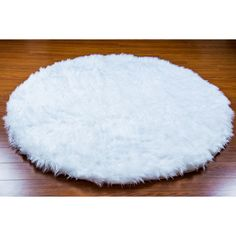 5 Diameter White Round Area Rug Plush Faux Fur Fake Shaggy Sheepskin... ($99) ❤ liked on Polyvore featuring home, rugs, black, floor & rugs, home & living, white sheepskin rug, synthetic rugs, white rug, faux fur rug and black area rug