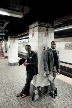 suits in subway