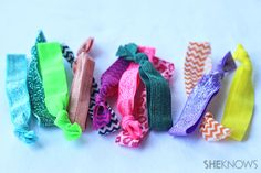 How to make your own ponytail holders - a fun DIY project for tweens!