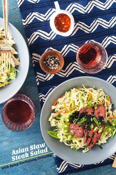 Asian Slaw Steak Salad by @Cindy Rahe of Hungry Girl Por Vida
