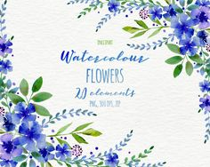beautiful free watercolor flowers blush amp navy in 2018