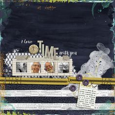 I Love Time With You - Amy Wolff | May Wolff Pack - Messy Edges, Paper; Bryant Park - alpha;    Family Matters - overlay; Deconstructed 3 - overlay, tape;   Pixie Dust - button, charm; Manic Monday - ribbon, card; Botanical - frame   Allison Pennington | Not Pictured - staples   Fonts | The Sophia, Amelian Script   RadLab | Lights On, Red Filter BW, Graphite BW