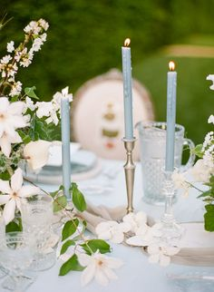 French blue wedding decor: Photography: Rebecca Yale - http://rebeccayalephotography.com/