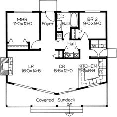 Eplans Country House Plan   Perfect Vacation Or Retirement Home   884  Square Feet And 2 Bedrooms From Eplans   House Plan Code