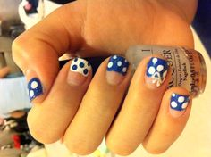 Navy nails for Katie