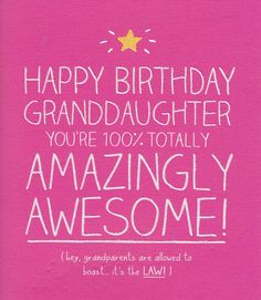 Happy 13th Birthday Granddaughter You are now a TEENAGER