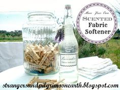 Make Your Own Fabric Softener ~ All Natural
