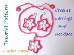 Tutorial Crochet Pattern Crochet Earrings by SandraHandmadeShop