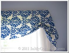 How to Make an Instant No Sew Window Valance