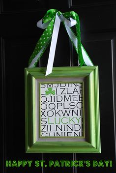 I don't usually decorate for St. Patrick's Day. It's not a big highlight at my house. But since Easter is later than usual this year, I thought it might be fun to make something this year.