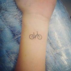 Bicycle Tattoo, Bike Tattoos, Tatoos, Small Tattoos, Cool Tattoos, Skin Script, Simple Tattoos For Women, Silhouette Tattoos, Harry Potter Tattoos