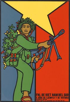 Bright 1970 Cuban Propaganda Posters Urging Solidarity With Vietnam