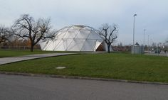 Charter-Sphere Dome designed by architect and engineer TC Howard of Synergetics, Inc and Charter Industries, Inc.