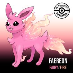 Inspired loosely by will-o'-wisps as welll as general fairy lore. - On rare occasion, an Eevee can be affected by more than one environmental factor, and reacts to grow into a new, rare evolution. Fairy/Fire Eeveelutions are elusive Pokemon,. Ninetales Pokemon, Oc Pokemon, Pokemon Eevee Evolutions, Pokemon Fusion Art, Pokemon Fairy, Pokemon Cards, Manga Pokémon, Pokemon Mignon, Equipe Pokemon