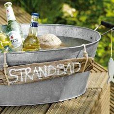 Coole Idee für eine Gartenparty zum Getränke kühlen
