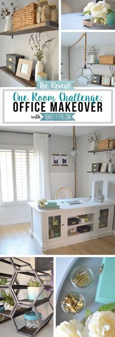 Office {One Room Challenge}, Reveal. Office Makeover | A Shade Of Teal