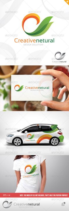 Creative Natural Logo  #GraphicRiver         This logo design for all creative business. Consulting, Excellent logo,simple and unique concept.  Logo Template Features   AI and EPS (Illustrator 10 EPS) 300PPI  CMYK  100% Scalable Vector Files  Easy to edit color / text  Ready to print  Font information at the help file