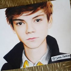 Hope you like my new portrait of Thomas Sangster best known as Newt from The Maze Runner! << this is amazing props to you!!!<< Yeah, it's amazing!