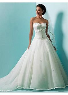 ELEGANT ORGANZA A-LINE SWEETHEART NECKLINE WEDDING DRESS LACE BRIDESMAID PARTY COCKTAIL GOWN FORMAL BRIDAL PROM CUSTOM