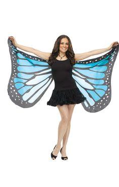 Riesige Schmetterlingsflügel blau