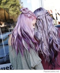 Awesome pink and purple hair tones