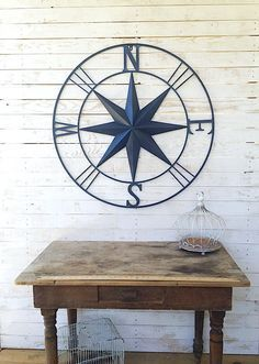Nautical Wall Art Metal Wall Compass Metal Wall by Camilla cotton *available in multiple colors #large #outdoor