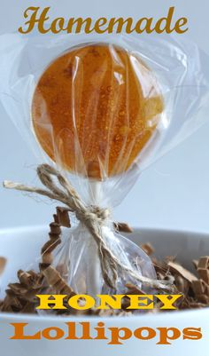 Homemade Honey Lollipops. They are totally free of Corn Syrup, Chemicals, Coloring or Preservatives of any kind. #hardcandy #lollipop #sucker