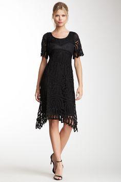 Soutache Short Sleeve Dress