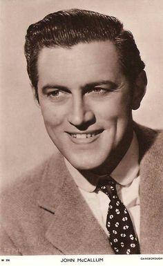 classic actors | John McCallum - Stage and Film Actor / Movie Star