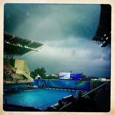 O #azul voltou pra piscina mas no céu... #rio2016 #rio2016olympics #saltosornamentais