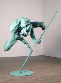 'Smith' (2007) by Peter Rogiers. Epoxy, polyester, iron, polyurethane-varnish and paint.
