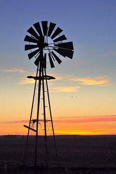 Windmill at Sunset Carlton Heller
